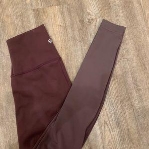 Lululemon ombré leggings, size 4
